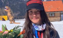 Semire Dauti, argento nel SuperG ai Campionati Italiani sullo Zoncolan