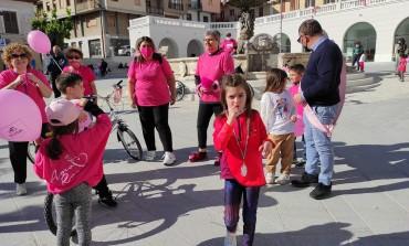 Pedalata in Rosa a Castel di Sangro, evento organizzato dall'Associazione AmoRosa