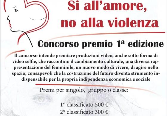"""""""Si all'amore, no alla violenza"""" Concorso premio 1° edizione per le Scuole Superiori dell'Alto Sangro"""