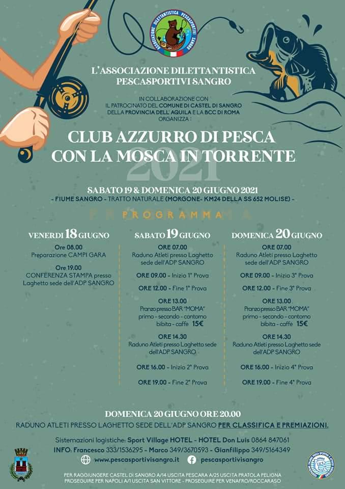 calendario club azzurro pesca