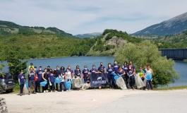 Plastic Free Alfedena, il Lago della Montagna Spaccata liberato dai rifiuti in plastica