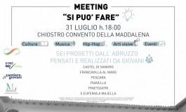 """Progetto """"Si può fare"""" meeting con i vincitori a Castel di Sangro"""