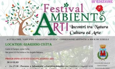 """Festival AmbientARTI a Castel di Sangro, il """"Giardino Civita"""" ospita la cultura e l'arte"""