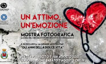 """Inaugurazione mostra fotografica """"Un attimo un'emozione"""", Piazza Plebiscito a Castel di Sangro"""