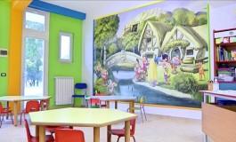 Nuova scuola di Ateleta, la gioia sul volto dei bambini nelle aule colorate