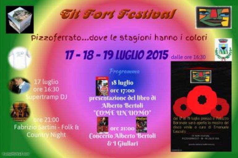Tre giorni di 'Tit Fort Festival' a Pizzoferrato