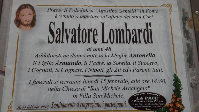 Lutto, Vastogirardi: muore l'assessore Salvatore Lombardi