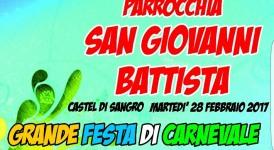 Carnevale a Castel di Sangro, organizza la parrocchia di San Giovanni Battista