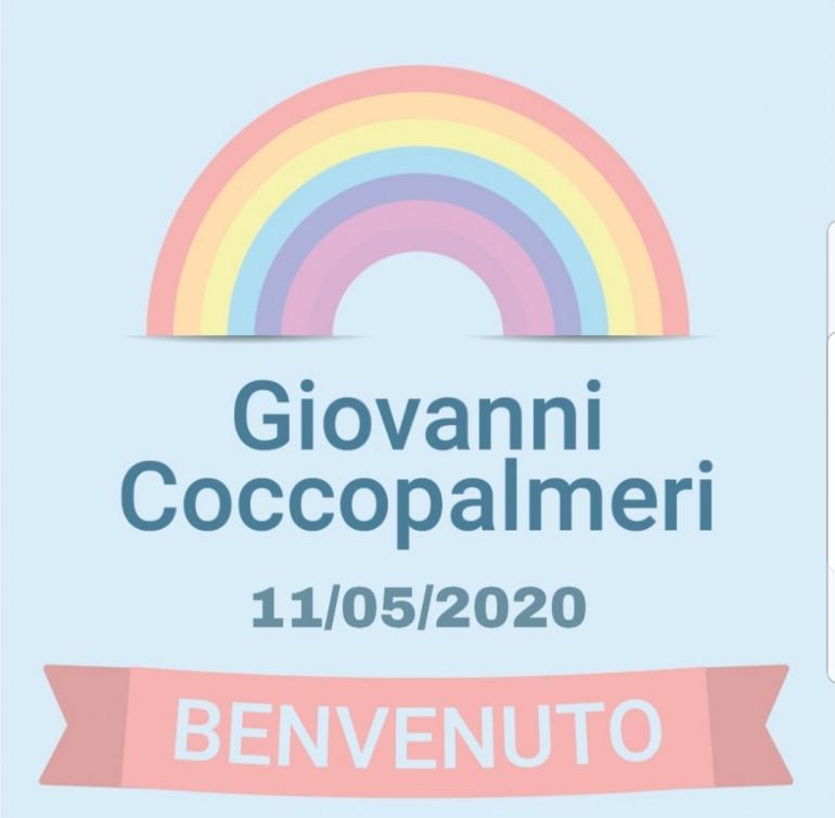E' nato Giovanni Coccopalmeri, auguri al papà Franco e alla mamma Annalisa