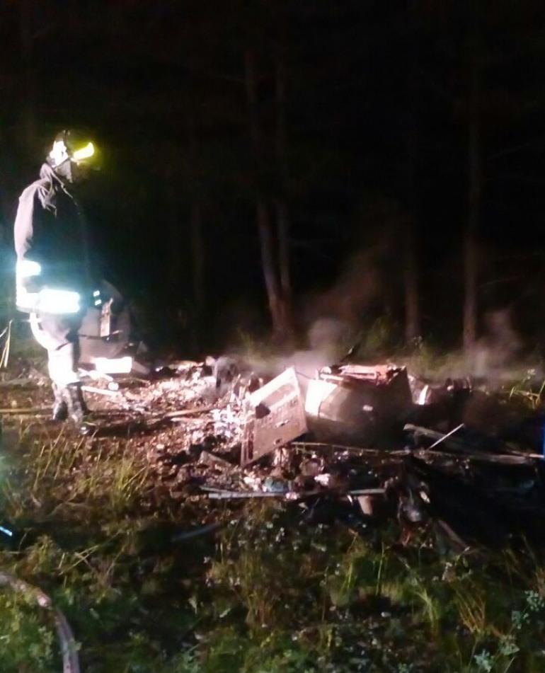 Rivisondoli, si incendia una roulotte: dentro c'erano tre bombole di gas