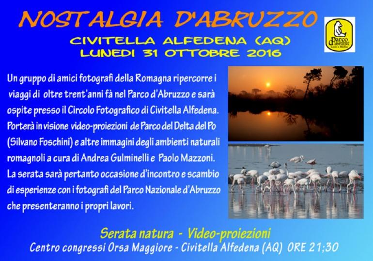 Civitella Alfedena, serata fotografica 'Nostalgia d'Abruzzo'