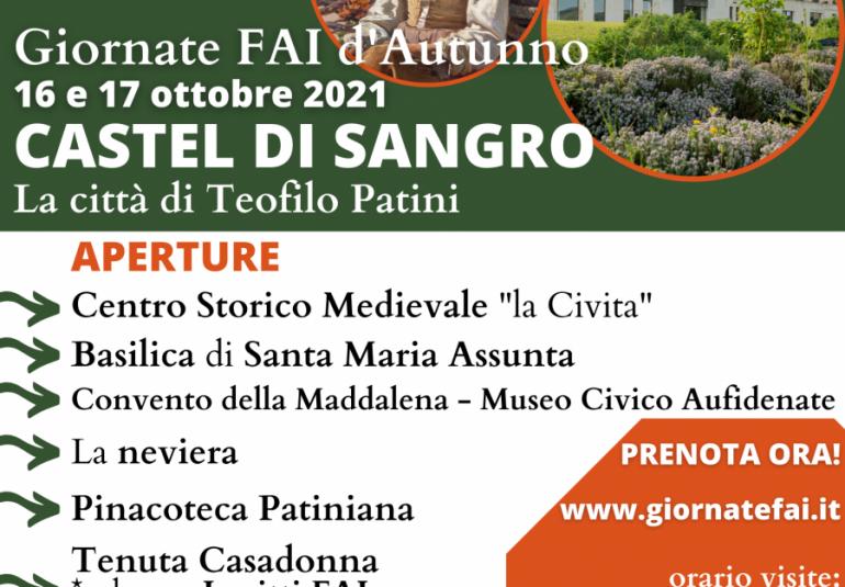 Giornate FAI a Castel Di Sangro, Teofilo Patini patrimonio artistico e culturale