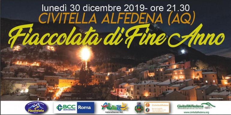 Fiaccolata di fine anno a Civitella Alfedena