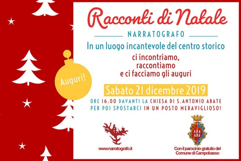"""""""Racconti di Natale"""", appuntamento a Campobasso sabato 21 dicembre"""