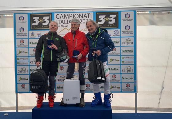 Campionati Master di Sci, assegnati i titoli tricolore del SuperG all'Aremogna