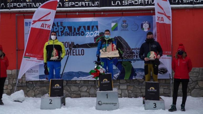 Skialp, Davide Magnini e Alba De Silvestro vincono il Campionato Italiano Vertical a Monte Pratello