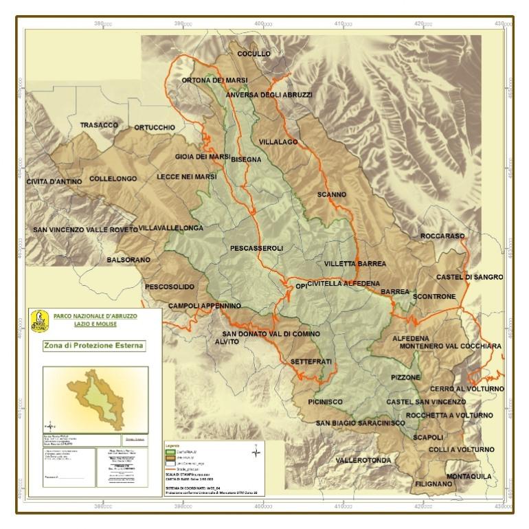 La regione Abruzzo approva i confini dell'area contigua del Pnalm