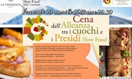 Cena dell'alleanza tra i cuochi e i presidi Slow Food