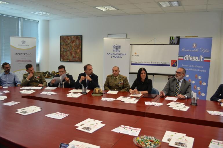 """""""Sbocchi occupazionali"""": rinnovata la convenzione tra Confindustria L'Aquila Abruzzo Interno e Comando Militare Esercito Abruzzo"""