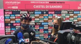 Giro d'italia Castel di Sangro: Egan Bernal maglia rosa, giornata di festa per la città