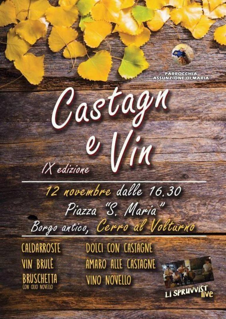 """Cerro al Volturno, """"Castagn e vin"""" al rione castello: domenica 12 novembre"""