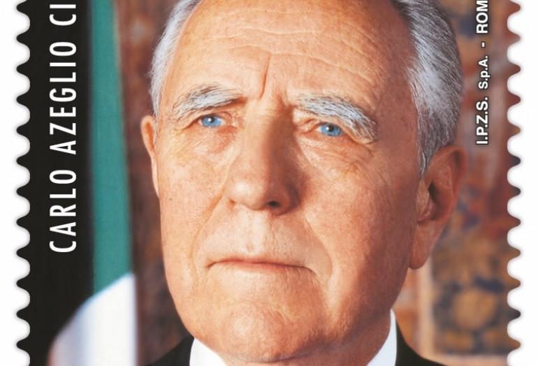 Carlo Azeglio Ciampi, Poste Italiane emette un francobollo commemorativo