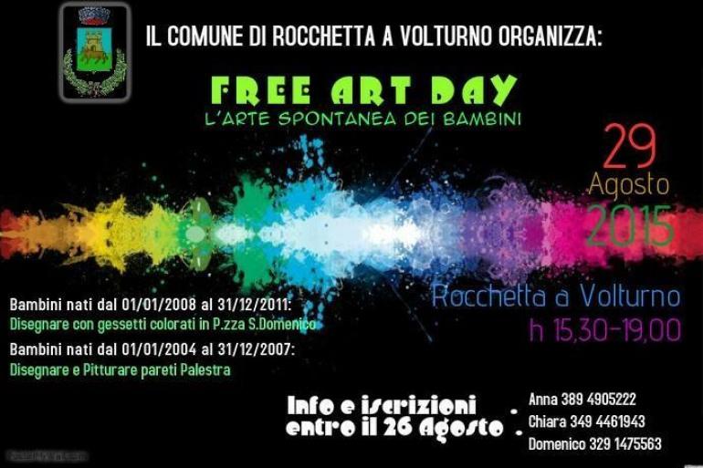 """Rocchetta a Volturno, bambini di tutte le età al """"Free art day"""""""