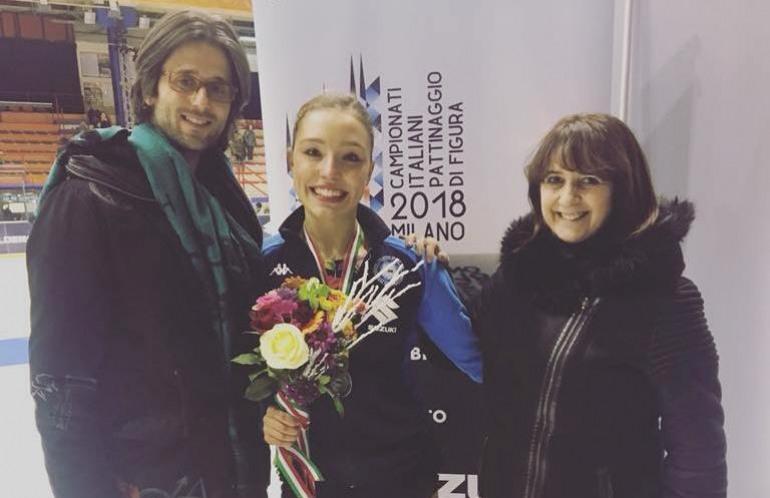 Campionati italiani pattinaggio, l'argento di Giada Russo brilla grazie a due allenatrici di Roccaraso