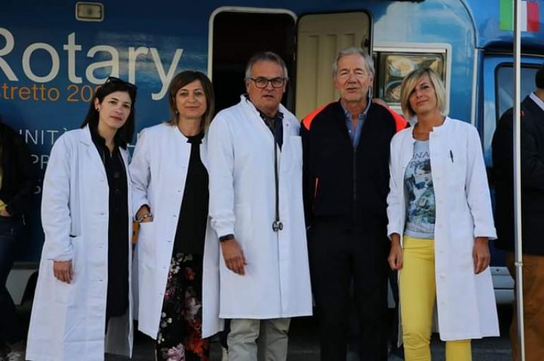 """Screening cardiologico, successo per l'iniziativa del Rotary Club di Agnone. Bertolaso: """"Questo è il vero volontariato"""""""