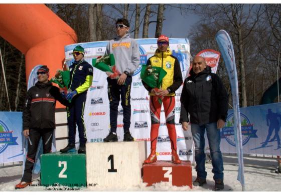 Campionati sci di fondo 'under 14', ottime prestazioni degli atleti abruzzesi e molisani: bronzo per Leonardo di Santo