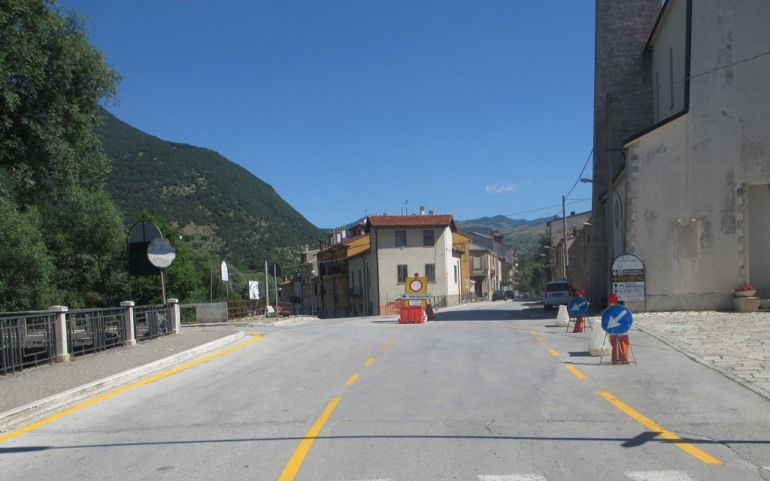 Castel di Sangro, interruzione della Sp 119: disagi alla viabilità