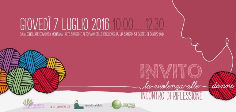 """Castel di Sangro, convegno: """"La violenza alle donne: incontro di riflessione"""""""