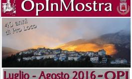 1^ edizione di OpinMostra per i 40 anni della Pro Loco di Opi