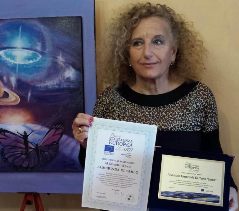 Castel di Sangro, Almerinda Di Carlo lascia il segno al 'Premio eccellenza europea'