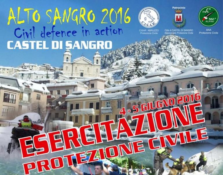 Castel di Sangro, esercitazione di protezione civile