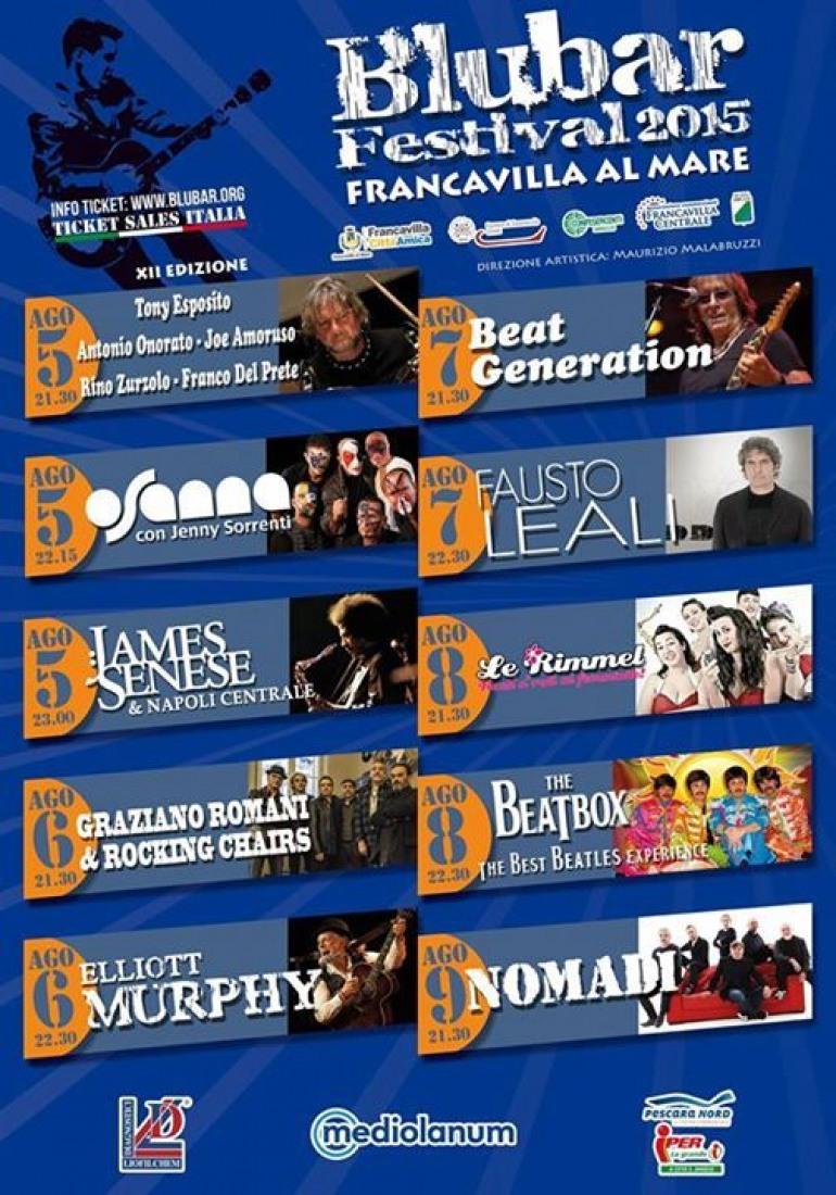 Blubar Festival: giovedì 6 agosto Elliot Murphy e Graziano Romani & i Rocking Chairs