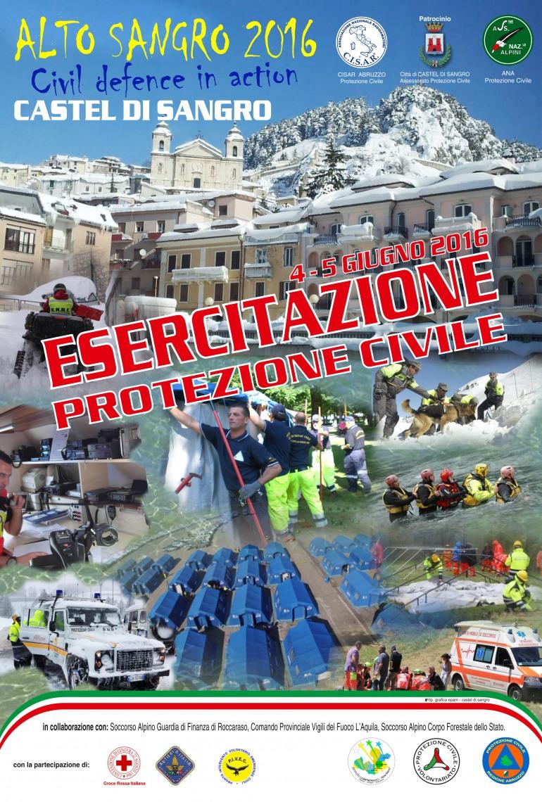 Emergenze simulate con 150 uomini per l'addestramento di Protezione Civile a Castel di Sangro