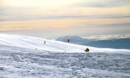 Roccaraso, 4^ edizione del campionato del mondo di Snowkite