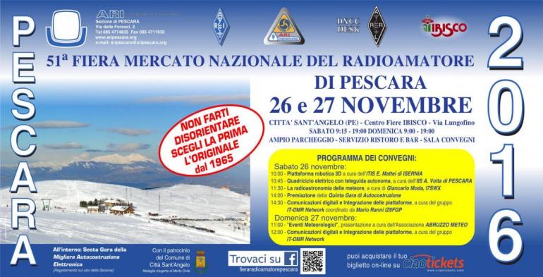 Città Sant'Angelo, 51^ fiera mercato del radioamatore: 26 – 27 novembre