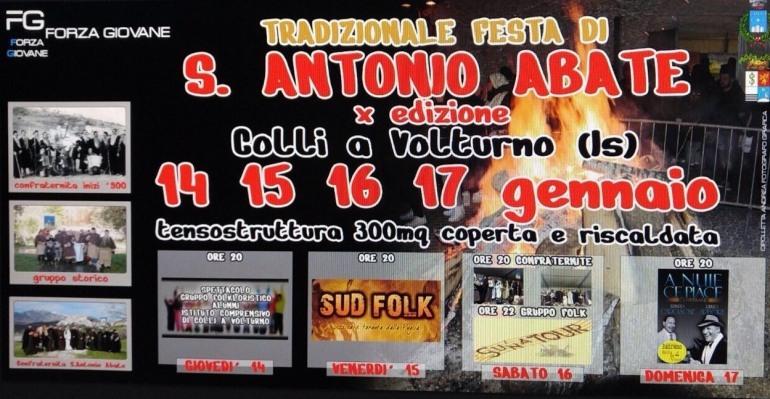 Colli a Volturno, 4 giorni di festa per Sant'Antonio abate