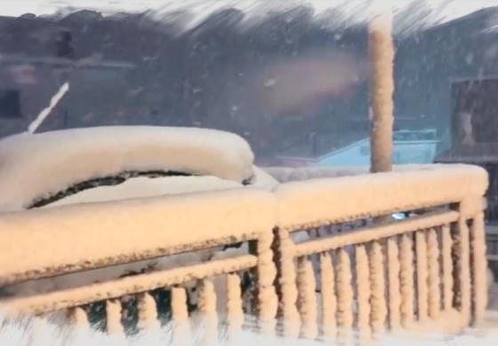 Neve in Alto Sangro, imbiancati tutti i comuni del comprensorio
