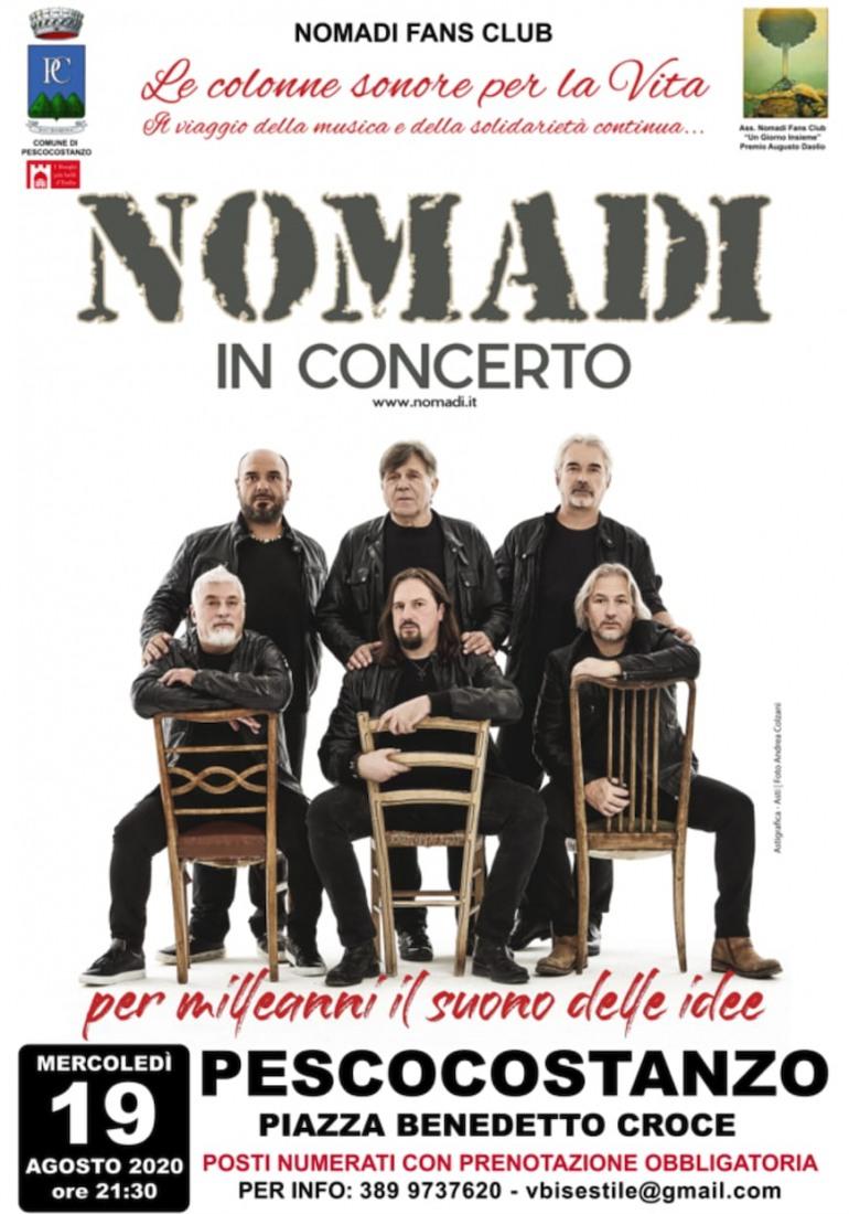 Pescocostanzo, caccia al biglietto per il concerto dei Nomadi: mercoledì 19 agosto