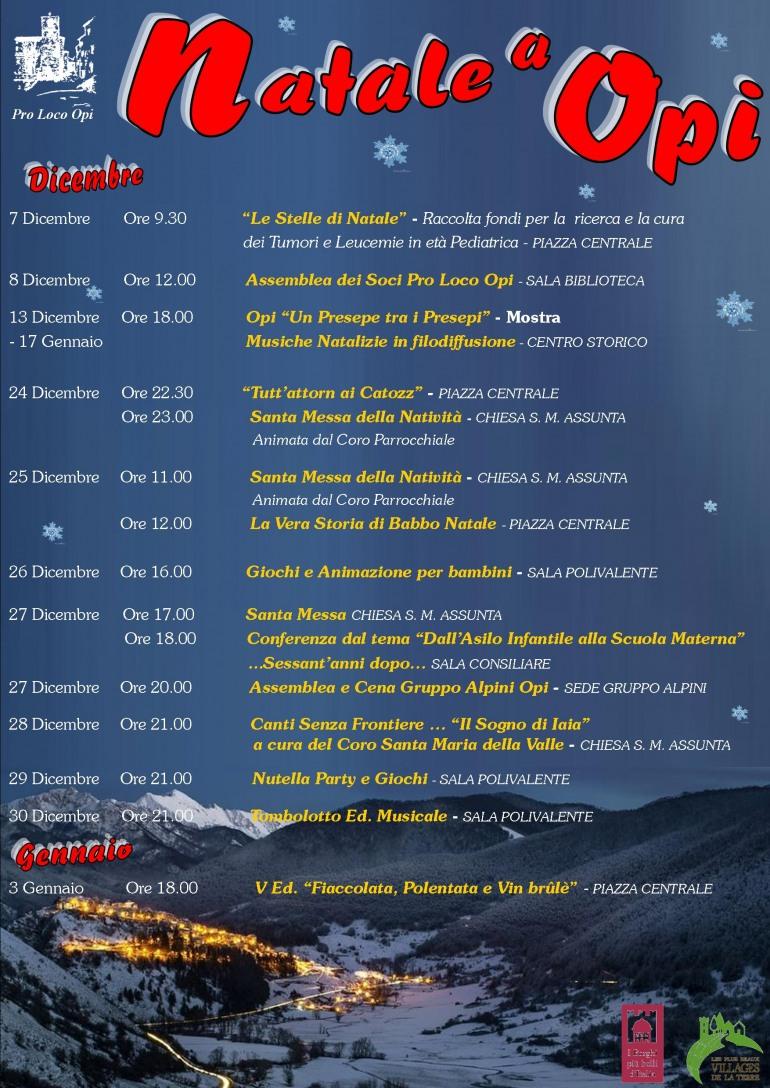 """Cultura, spettacoli e concerti. Le festività natalizie a Opi senza dimenticare """"Iaia"""""""