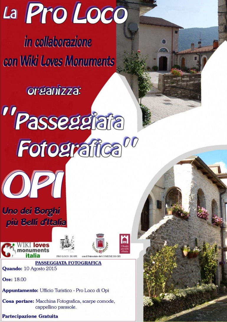 'Wiki Loves Monuments', la Pro Loco di Opi unica in Abruzzo