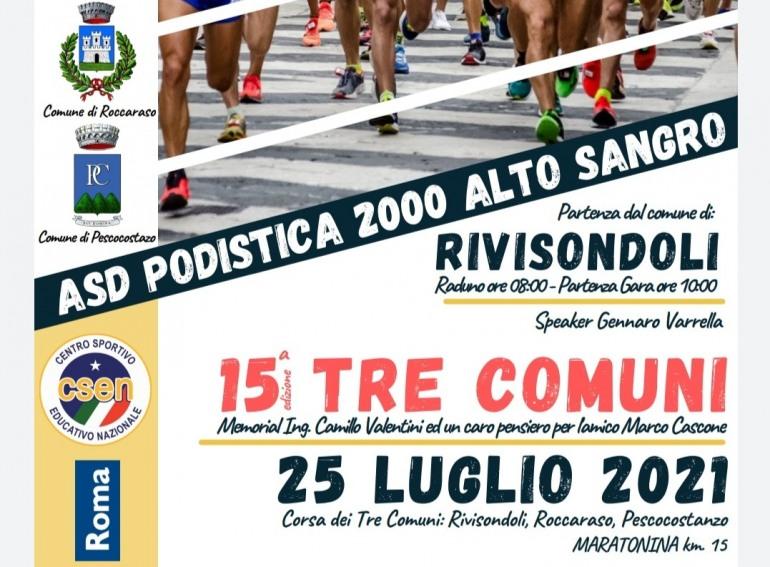 """Gara podistica """"Tre Comuni"""" Rivisondoli – Roccaraso – Pescocostanzo ai nastri di partenza"""