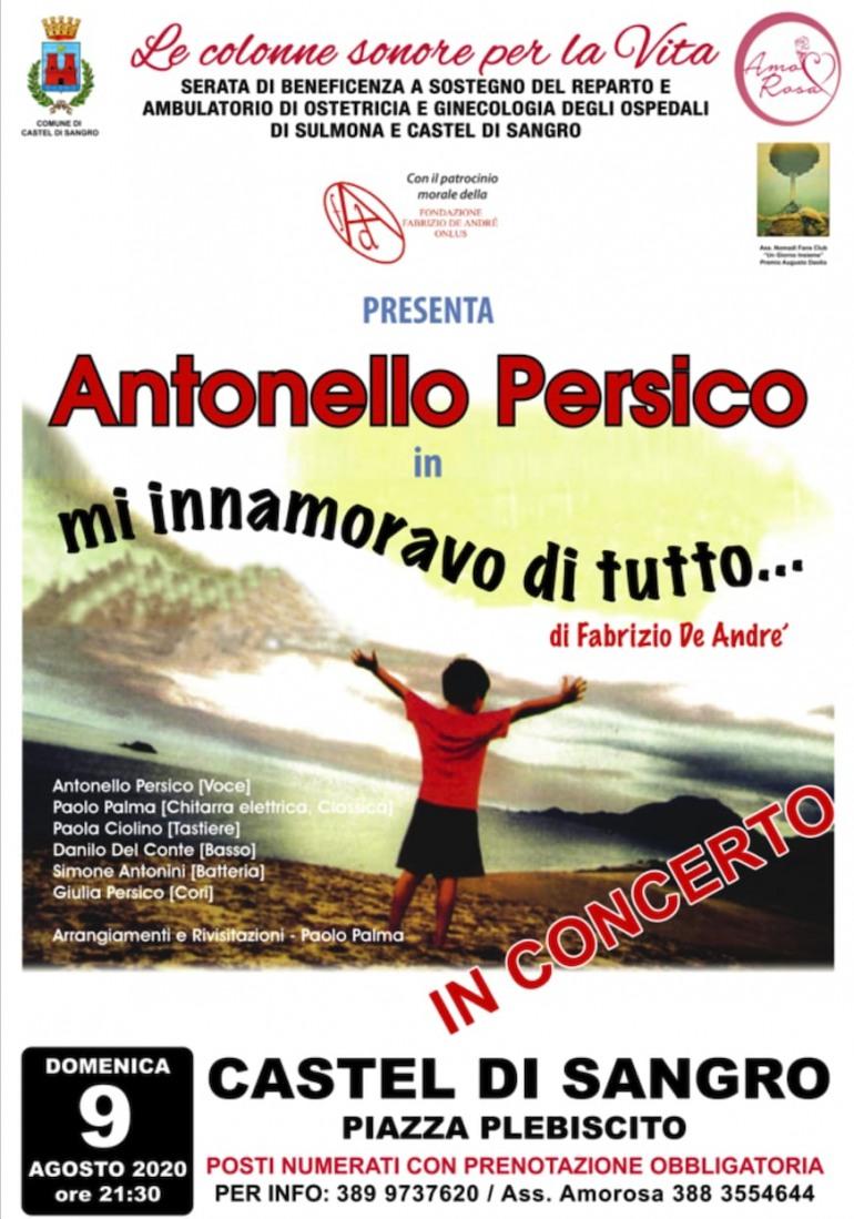 Castel di Sangro, domenica 9 agosto tributo a Fabrizio De Andrè