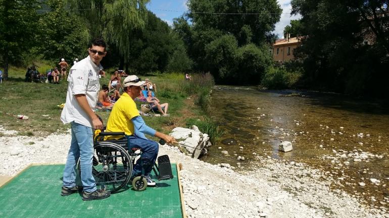 Pesca, inaugurata la piazzola per disabili a Castel di Sangro