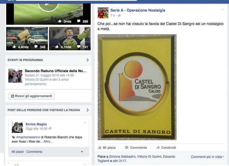 """Calcio, la storia del Castel di Sangro rivive in """"Serie A Operazione Nostalgia"""""""