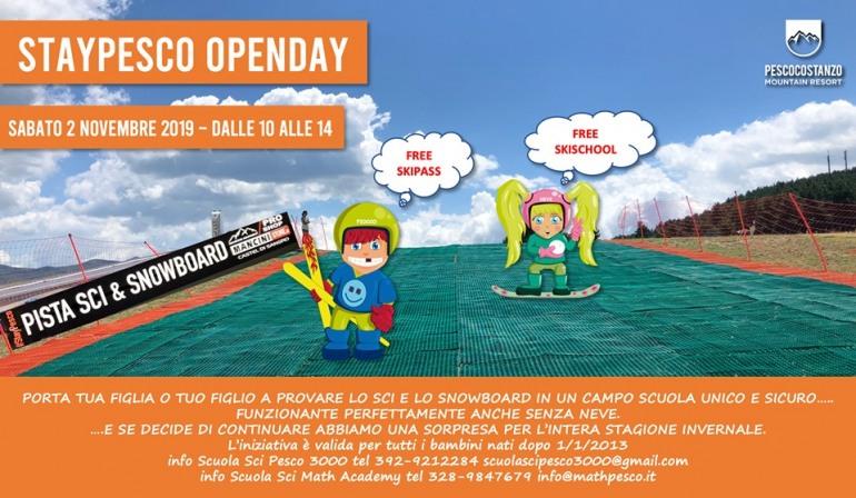 A Pescocostanzo si scia tutto l'anno, sabato l'inaugurazione del campo scuola 'Neveplast®'