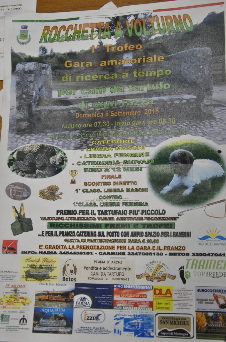 Gara dei cani da tartufo a Rocchetta a Volturno